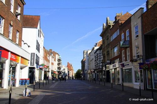 глостер, англия, улицы города