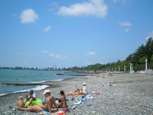Сухум. Центральный пляж