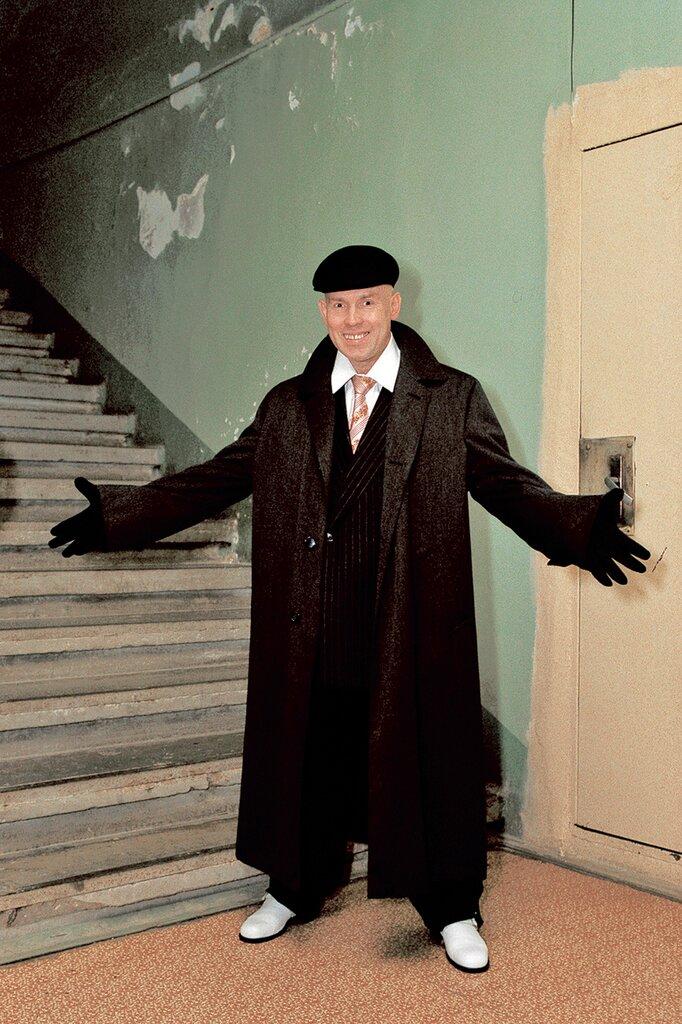 Виктор Сухоруков на съемках фильма «Брат-2». 1999 г