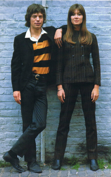 Françoise Hardy and Mick Jagger. Photographed by Jean-Marie Périer