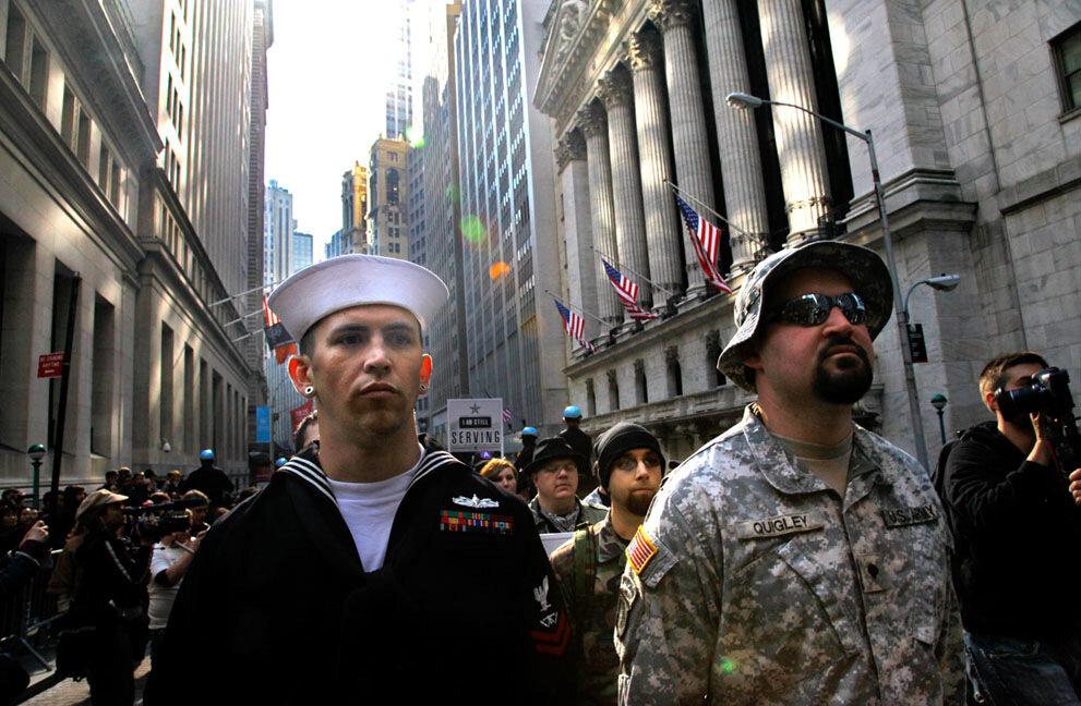 APTOPIX Occupy Veterans
