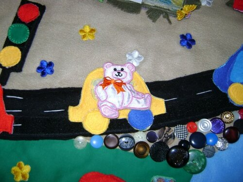 Развивающий коврик для детей... светофор, машинка