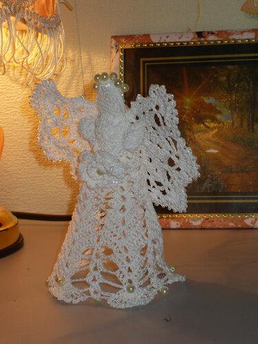 вязанный крючком ангел