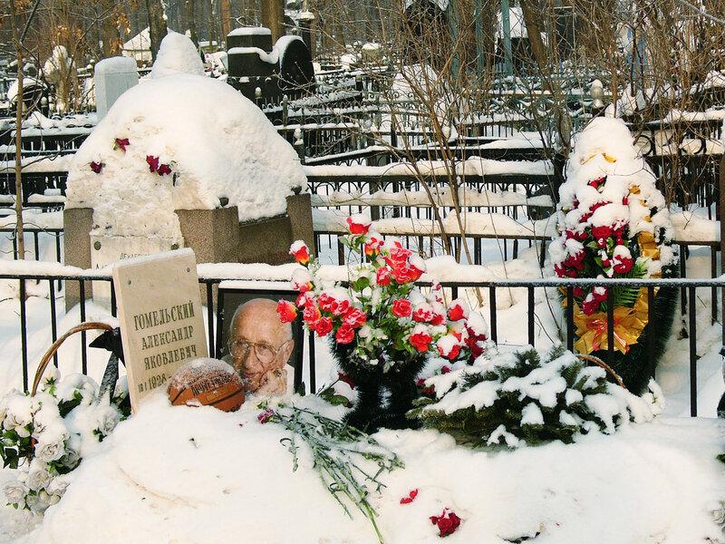 Ваганьково и Алекса́ндр Я́ковлевич Го́мельский Новодевичье кладбища. Некрополи в фотографиях. Могилы знаменитостей