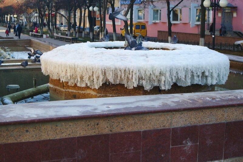 Замерзший фонтан