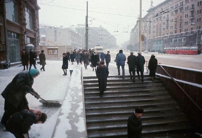 Улица Горького в Москве, 1966 год.