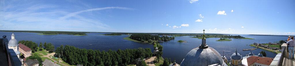 Селигер. Панорама. Вид с колокольни монастыря