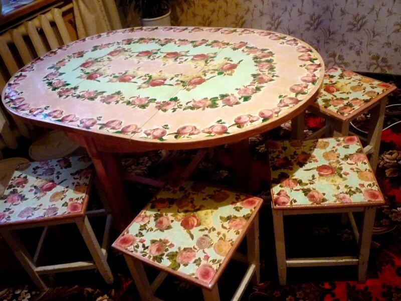 Как обновить старый кухонный стол своими руками
