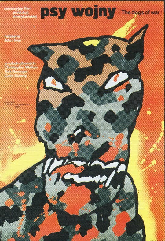 Polish Film Poster Dogs of War Waldemar Swierzy