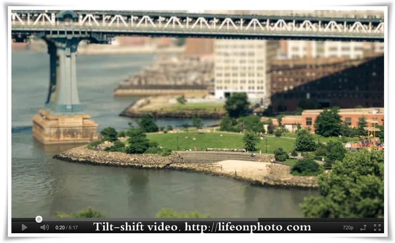Нью-Йорк на видео с tilt-shift эффектом