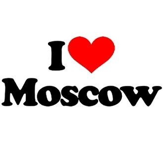 Майка Я люблю Москву.