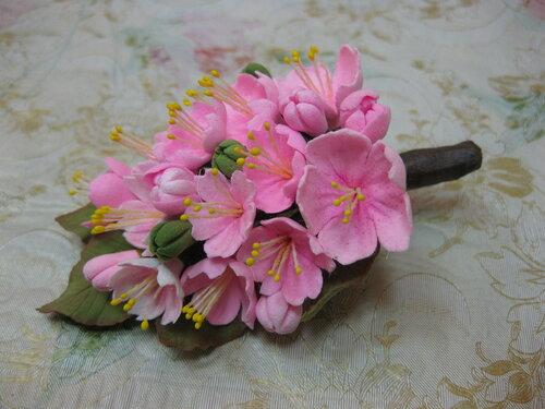 Японская полимерная глина цветы мастер класс подробно #11