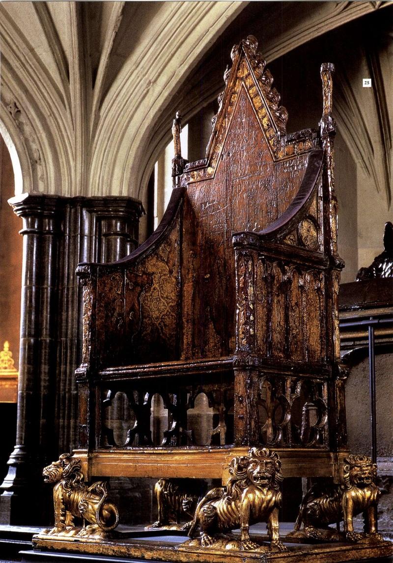 Коронационное кресло, сделанное в 1297 году