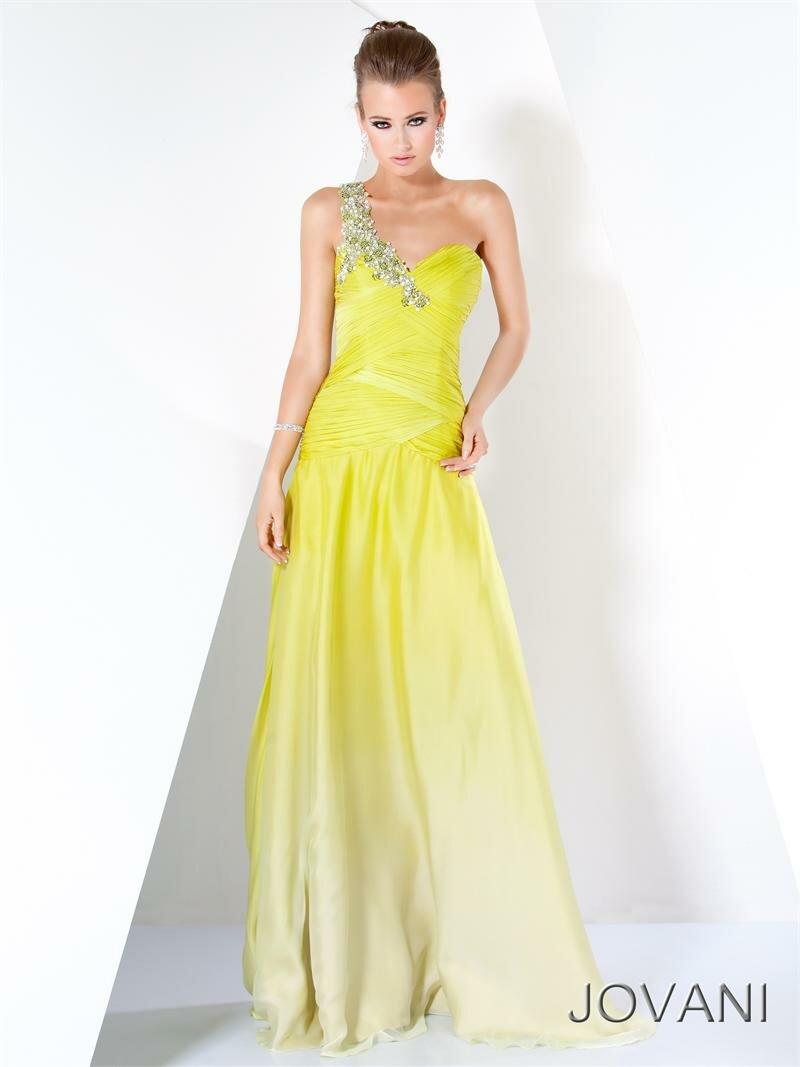 Желтые платья на выпускной 2012 FashionWalk.