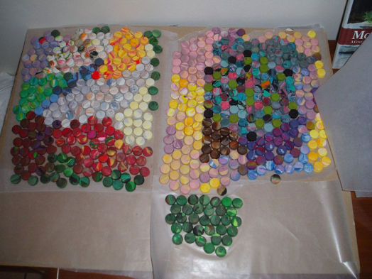 Американская художница делает мозаику из пластилина