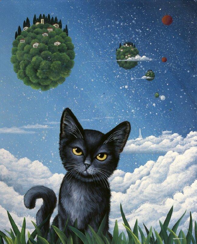 """Схема вышивки  """"Чёрный котёнок """": комментарии."""