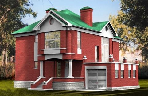 красивый проект кирпичного дома