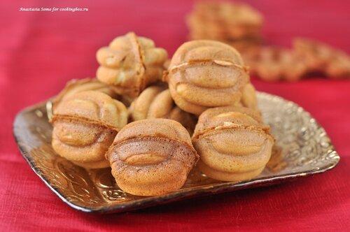Вафельные орешки с кремом