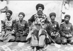 Бухарский эмир со свитой