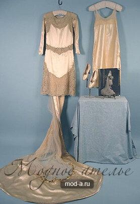 Короткое свадебное платье 1926 года