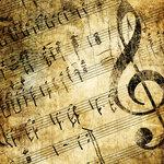 Роскошные винтажные музыкальные текстуры Music textures.