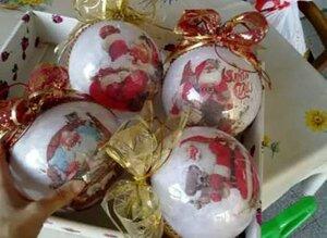 Новогодняя игрушка своими руками на елку на