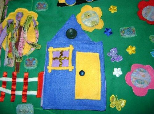 Развивающий коврик для детей... волшебный домик