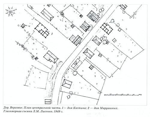 Деревня Верховье, Карелия, план