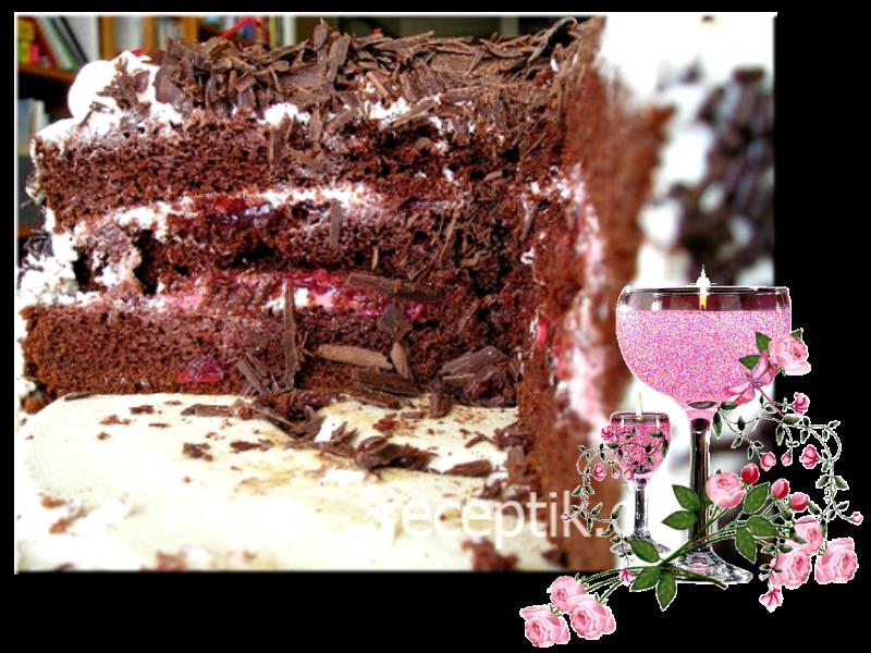 Торт чёрный лес с пошаговым