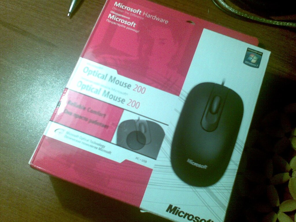 Microsoft Optical Mouse 200, Black (JUD-00002). Мышь. Просто мышь.