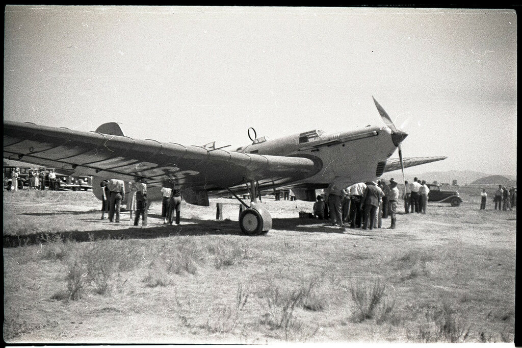 ANT-25 (RD) (No. N025-1) piloted by Mikhail Gromoff during the Moscow, USSR to San Jacinto, CA. San Jacinto, 1937