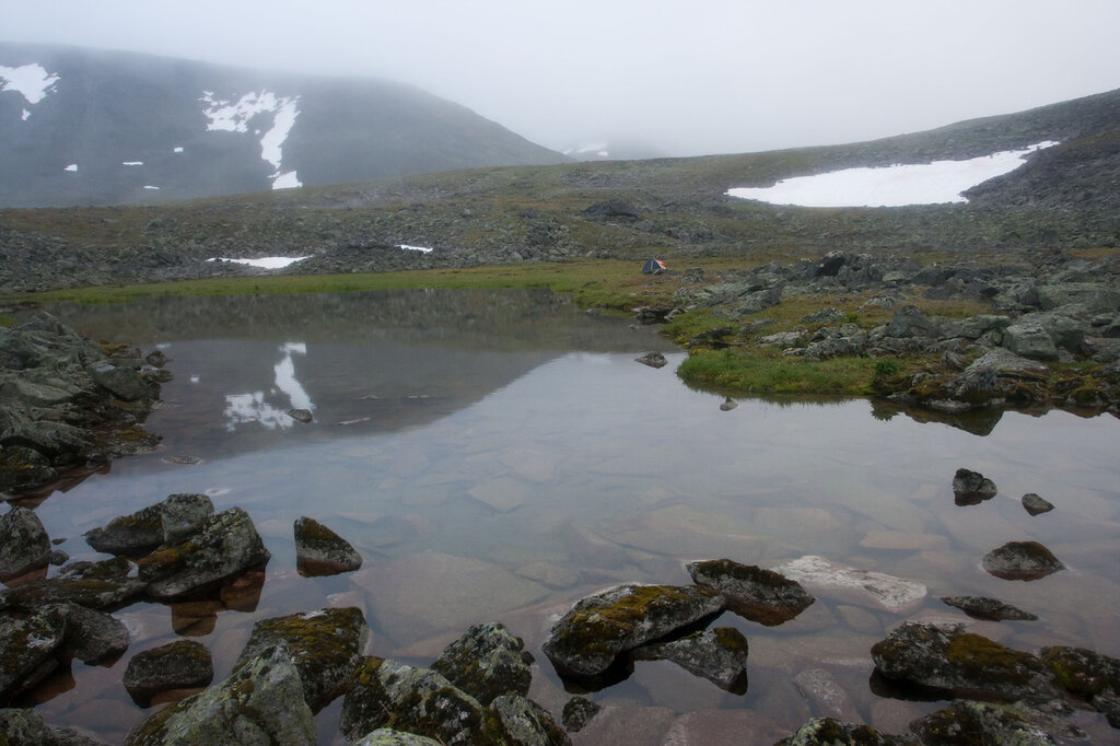 Стоянка у ледника Балбан