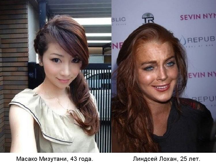 масако мизутани фото без макияжа