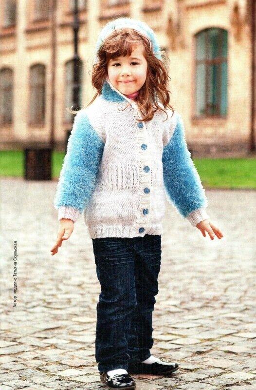 Вязание курточка для девочки 813