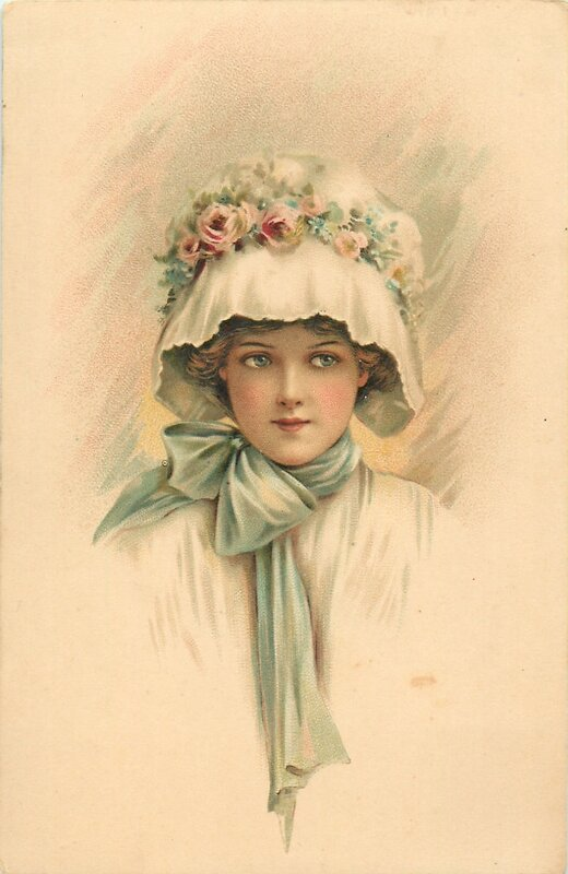 Дню, дореволюционные открытки женщины