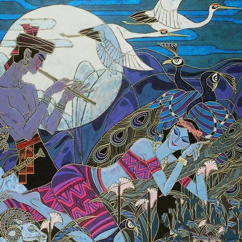 И в небо лились эти звуки, целовались под них птицы, Zu Ming Ho