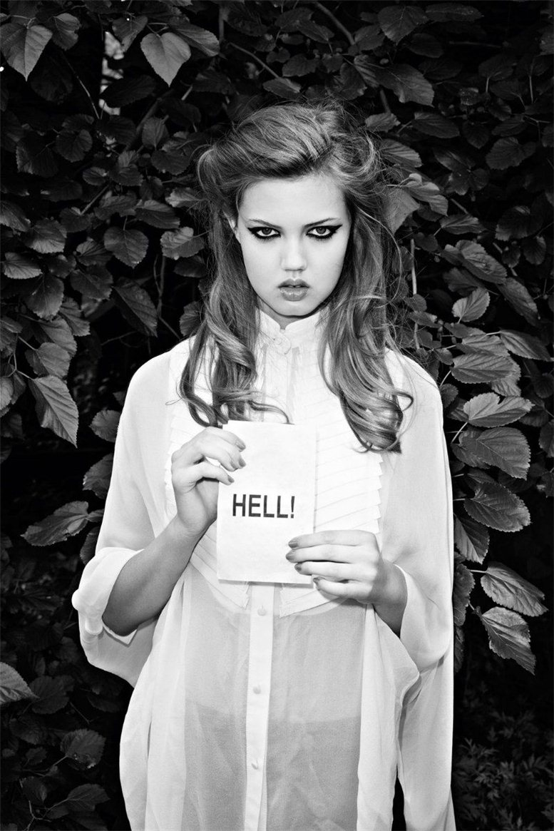 Lindsey Wixson by Terry Richardson / Линдси Виксон в журнале Purple Fashion, осень-зима 2011