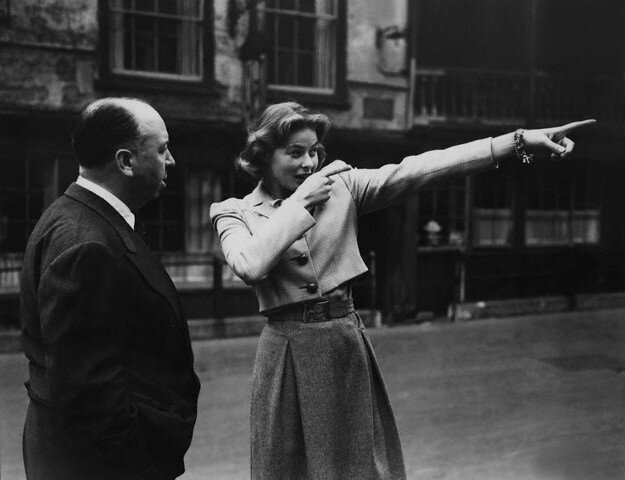 Alfred Hitchcock and Ingrid Bergman