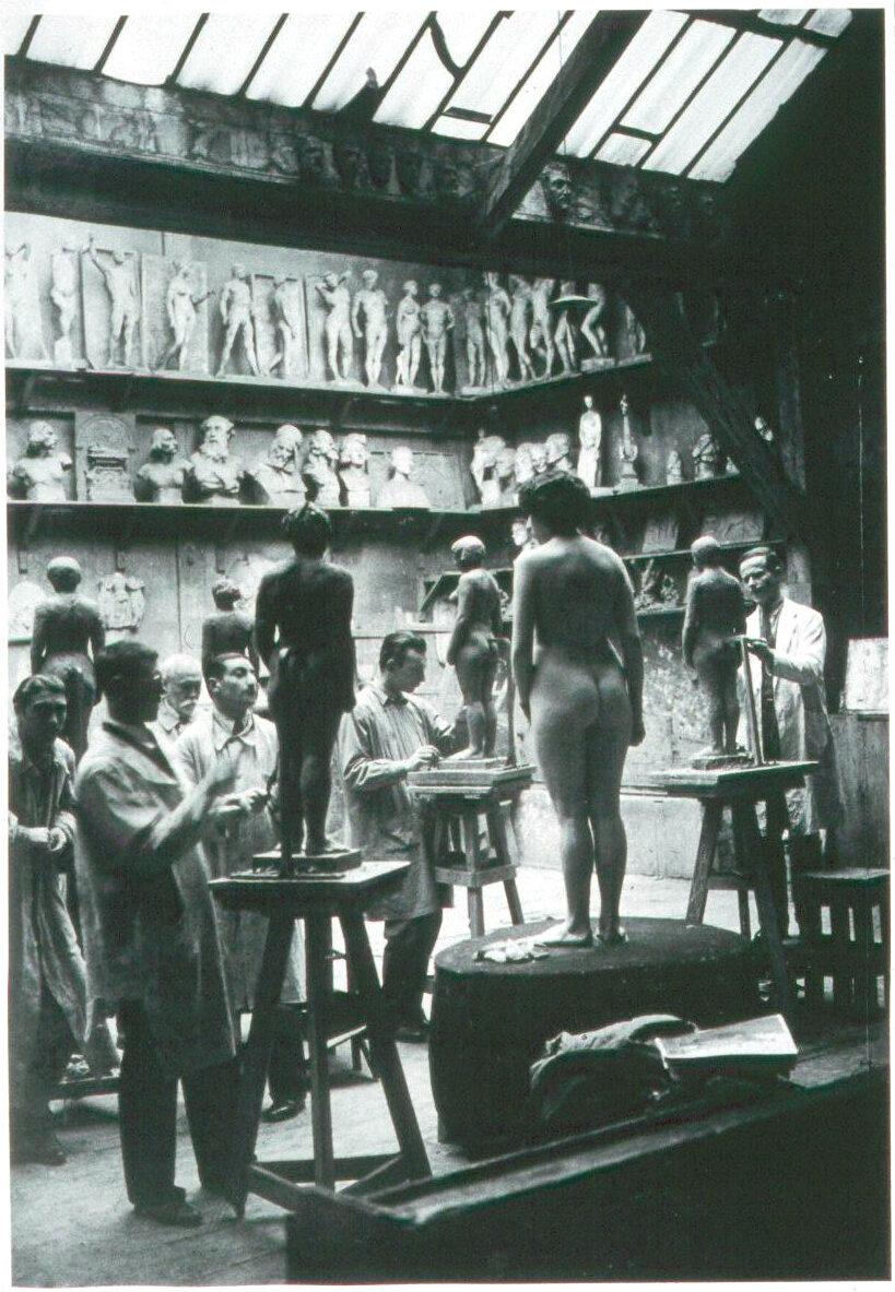 1932. Занятия в академии Жюлиана. Работа с обнаженной натурщицей