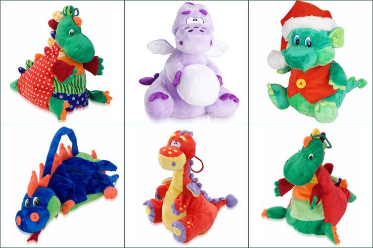 Сладкие новогодние подарки в виде дракона — символа 2012 года