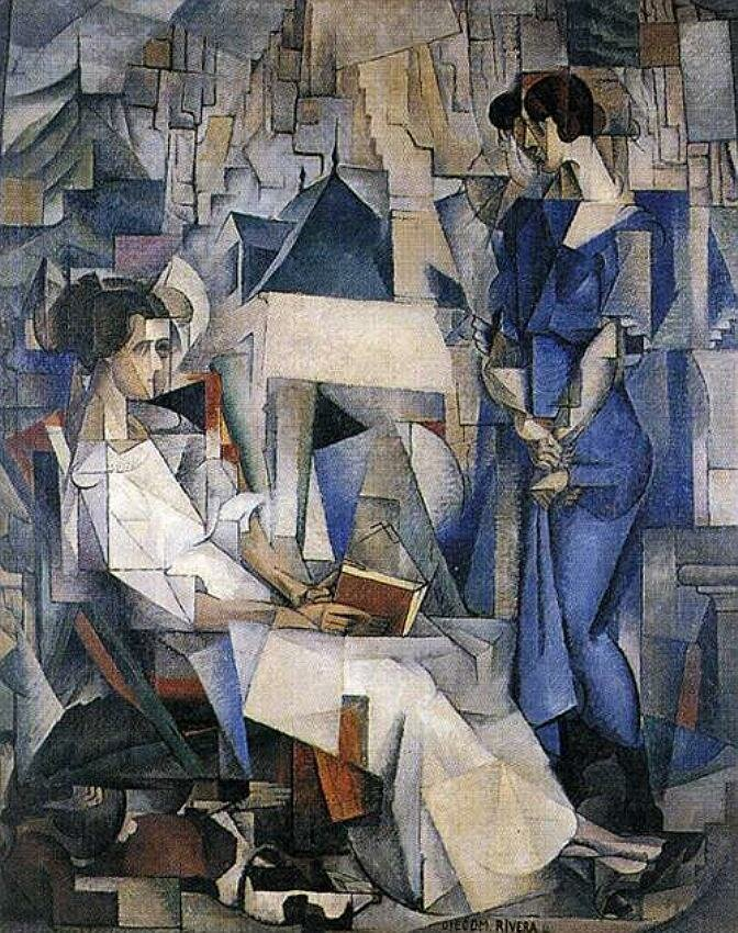 Portrait of Two Women. 1914. Diego Rivera