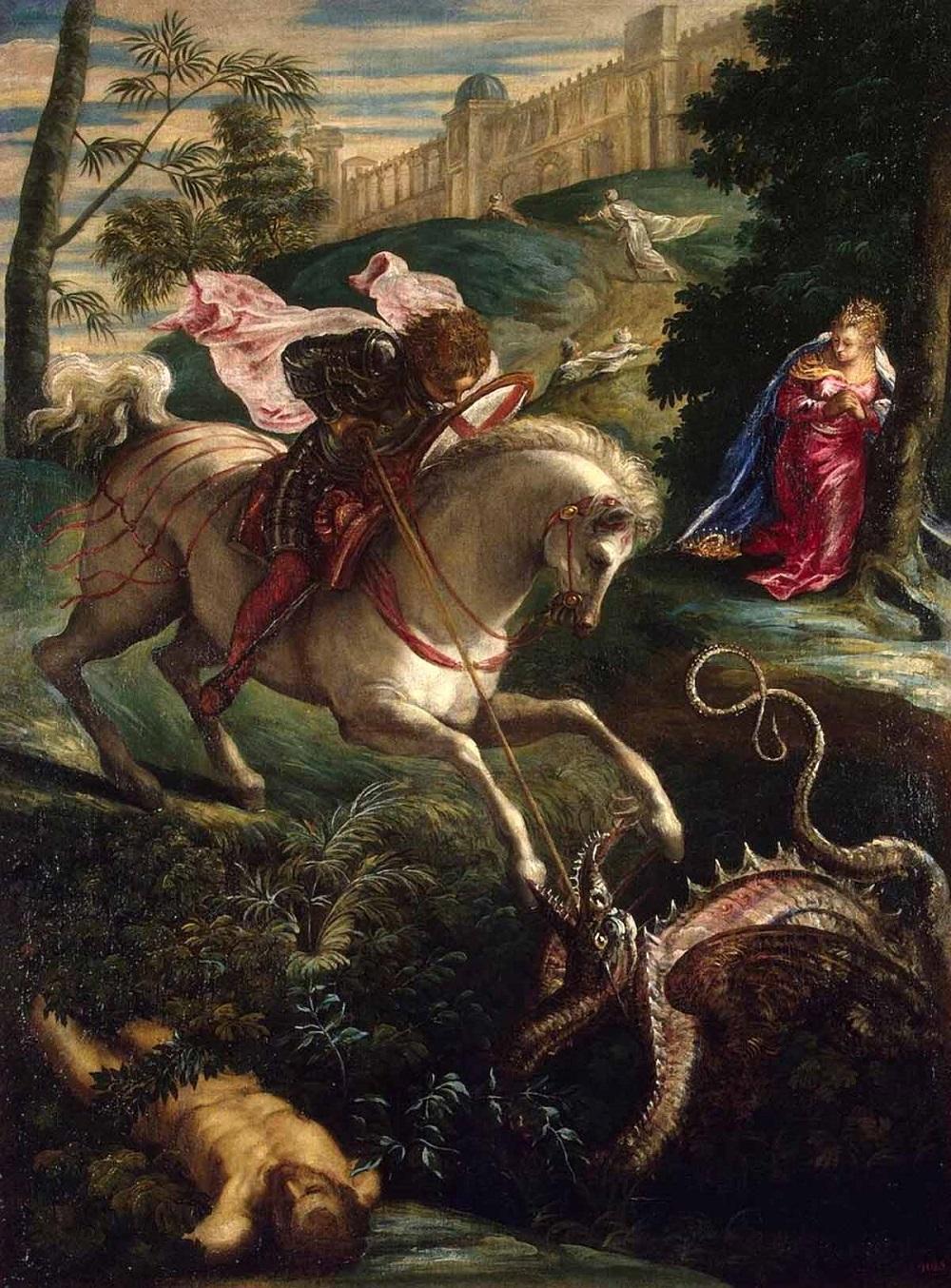 1600 Святой Георгий. Тинторетто - Якопо Робусти (итал. Jacopo Robusti) (1518-1594)..jpg
