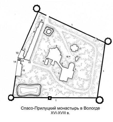Спасо-Прилуцкий монастрыь в Вологде XVI-XVIII в.