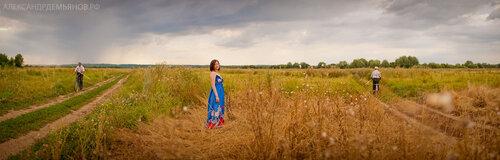 Портрет в поле панорамный портрет