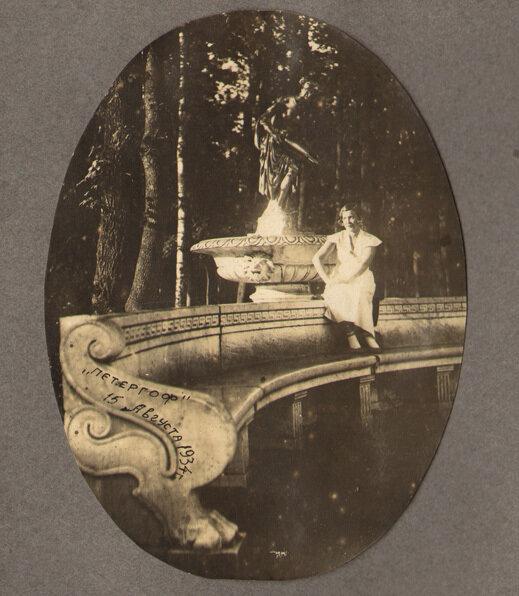 Тамбовчане в Петергофе. Из альбома В.Г. Маянского. 1931 год