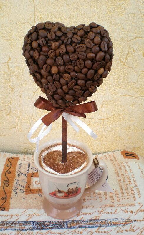Дерево из кофе своими руками фото