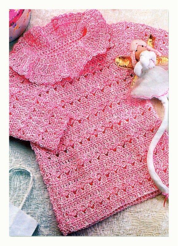В качестве...  Вязание детское.  Розовый пуловер.