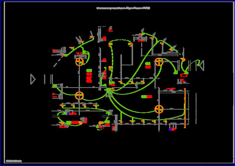 Схема плана, электрических