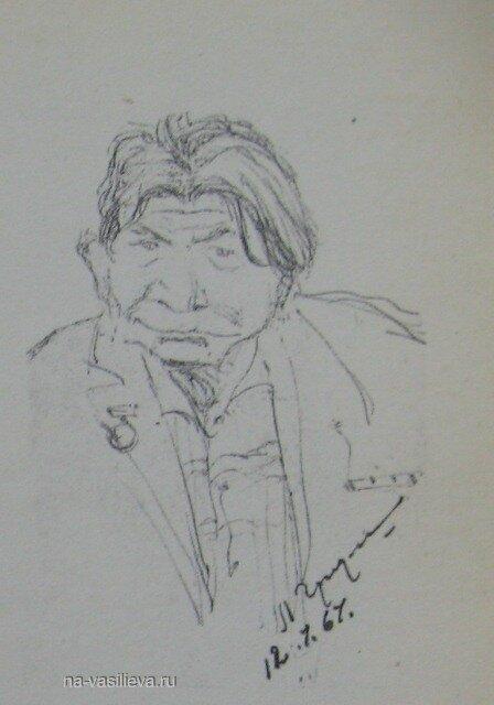 Шарж на художника Леонида Григорашенко