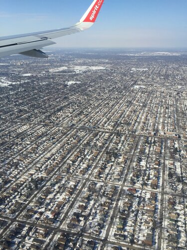 Chicago plane view